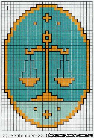 Знак зодиака Весы. (Схема 1)